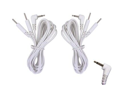 Male Tens Electrode Leads 2.5mm for Tens Machines (one pair)