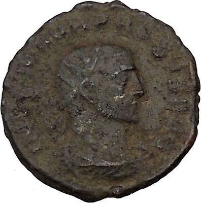 Probus  receiving globe from Jupiter 276AD Authentic Ancient  Roman Coin i46003