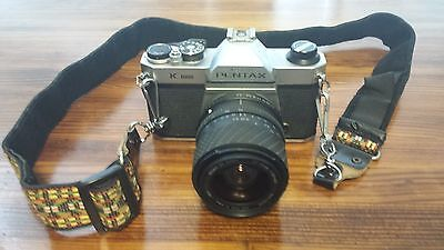 Pentax K1000 35 mm Film Camera with 20-70mm lens Great condition, working!!