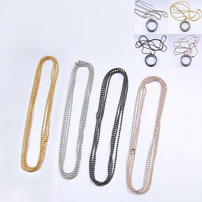 Tone Metal Ball Findings Chain Lots for Memory Locket Floating Charms Pendant