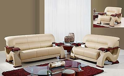 Violetta U2033 C Bonded Leather Sofa Set 3pc Loveseat And Chair