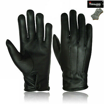 100% Sheep Skin Leather Gloves Police Military Forces Uniform Chauffeur SIA