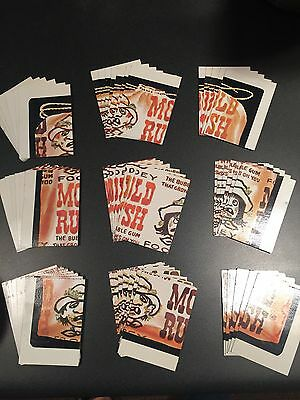 *Lot 57 Cards 5+ Sets* 1974 WACKY PACKAGES 6th SERIES CHECKLIST UNMARKED EX/NM