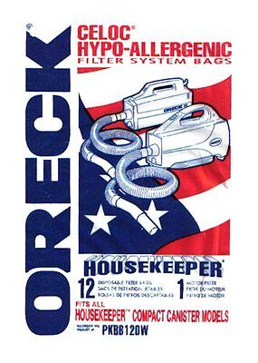 Genuine Oreck Xl Buster B--12 Pack Canister Vacuum Cleaner Bags--Pkbb12Dw