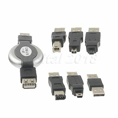 6 in 1 USB Portable Travel Kit Set Cable Adapter to Firewire IEEE 1394