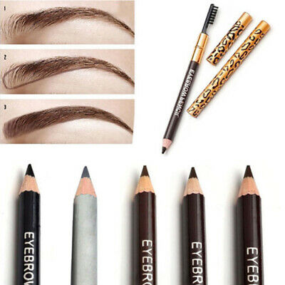 Maquillage étanche Eyeliner Yeux Eyebrow Crayon Stylo à Sourcils Pencil + Brosse