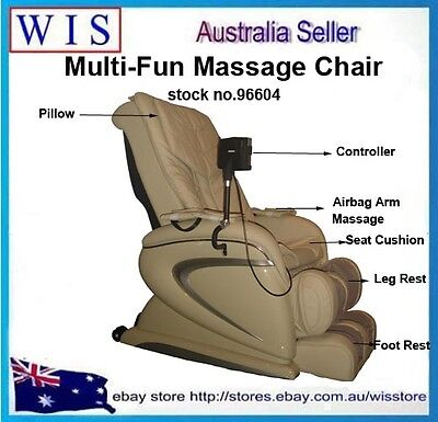 Electric Multi-fun Massage Chair Gravity Zero Recliner Foot Massager Full Body