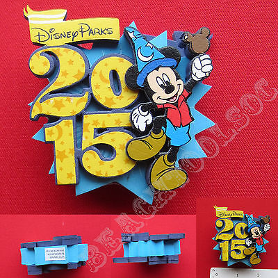 New Authentic 2015 Disney Parks Sorcerer Mickey Mouse Blue Car Antenna Topper