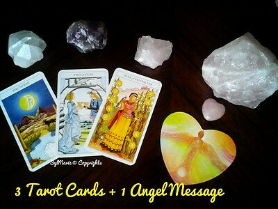 Tarot Card Reading 3 Cards and 1 Angels Message