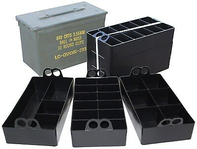 MTM Ammo Can Organizer 3 trays Black ( fits in the 50 cal ammo cans, organize )