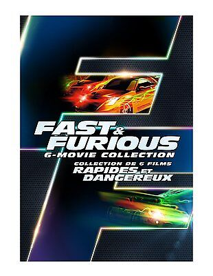 FAST & THE FURIOUS: Movie Series Complete 1 2 3 4 5 6 DVD Box Set Collection NEW