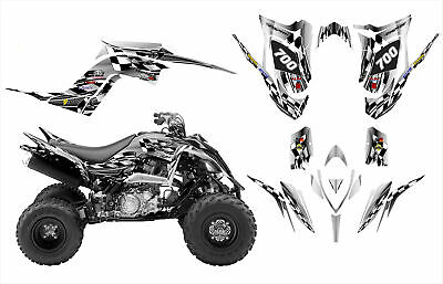 Yamaha Raptor 700 700R graphics 2013 2014 2015 custom deco kit #2500 Gray Metal