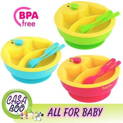 Warming baby bowl and cutlery dinner set/ warm food for longer feeding free BPA