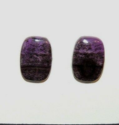 Sugilite Cabochons Pair of 14x10mm from South Africa  (8221)
