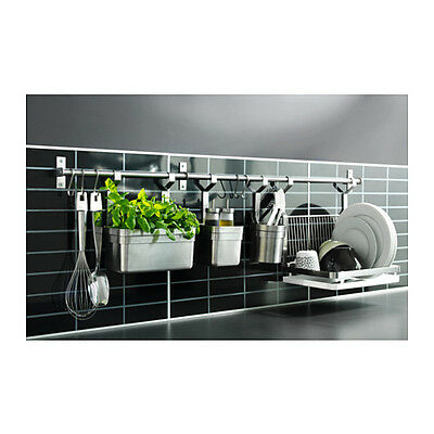 Kitchen Hanger Rail 40cm Stainless Steel Holder Wall Mounted Space Saver - NEW