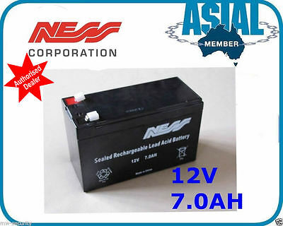 Security Alarm System NESS Battery Cell 12V 7.0Ah Rechargeable