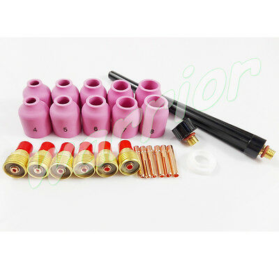 Consumables Kit for TIG Welding Torch WP 9 20 25 With 53N Nozzles Gas Lens 25pcs
