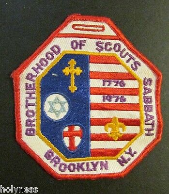Large Vintage Bsa / Boy Scout Patch / Brotherhood Of Scouts / Brooklyn Ny 1976
