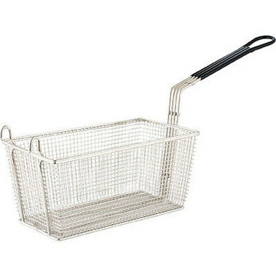Fry Basket 350x138x150mm Chrome Plated PVC Coated Handle Fryer Frying Chips