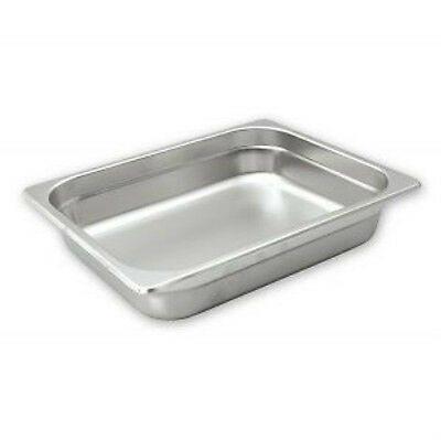 Bain Marie Tray Anti Jam Steam Pans 1/2 Size 100mm Stainless Steel
