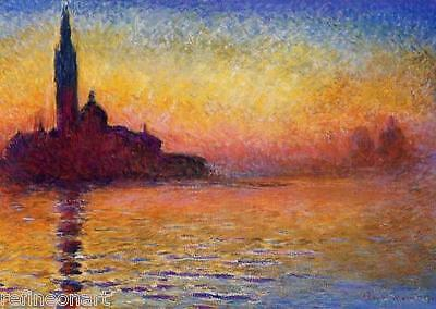 Sunset in Venice by Claude Monet Giclee Fine Art Print Repro on Canvas
