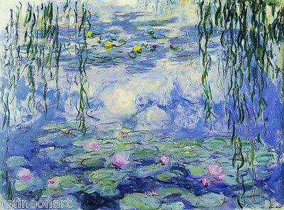 Water Lilies by Claude Monet Giclee Fine Art Print Repro on Canvas
