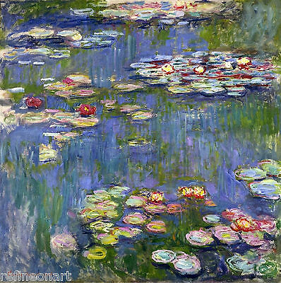 Water Lilies by Claude Monet Giclee Print Repro on Canvas