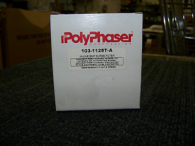 PolyPhaser In-Line Emp Surge Filter IF LIghting Arrestor F-Type 103-1125T-A New