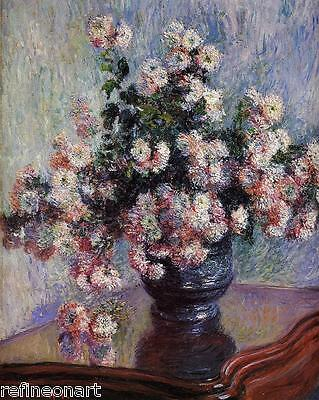 Chrysanthemums by Claude Monet Giclee Fine Art Print Repro on Canvas