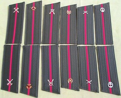 6 Original Soviet Officers Boards-1989/Diff Branches+New Russian Military Patch