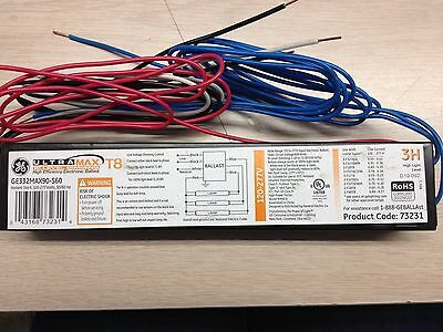 10 Pieces Ge Ge332Max90-S60 73231 Step Dimming Ballast 3Lamp T8 120-277V 100-60%