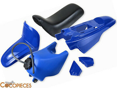 Kit carénages selle Yamaha PW 50 Piwi Peewee PW50 Bleu Blue Fairing Plastics NEW
