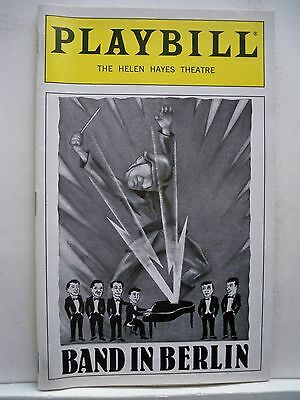 BAND IN BERLIN Playbill COMEDIAN HARMONISTS / Patricia Birch FLOP NYC 1999