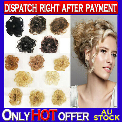Brand New 100% Human Hair Scrunchies Hair Piece Extension for Hair Bun Up-do