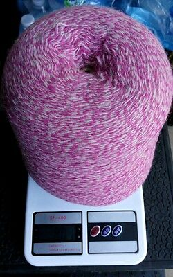 blend with 70% lamswool ,20% angora & 10% nylon yarn cone in pink/off white