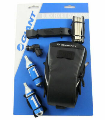 Giant Quick Fix Compress Bike Seat Bag & Repair Kit - CO2, Multi Tool etc
