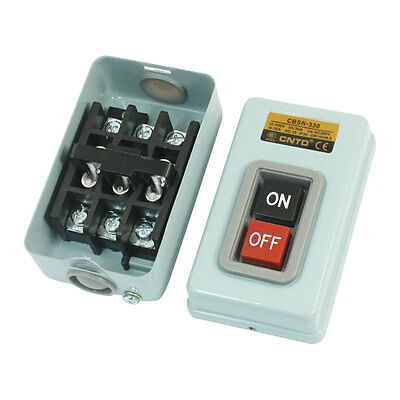 AC380V 30A 3.7KW 3P 3 Phase Metal Plate Latching Push Button Switch