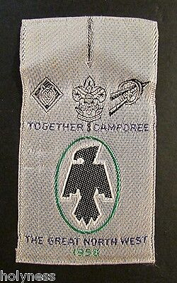Vintage 50's Bsa / Boy Scout Cloth Button Patch / Together Camporee / 1958