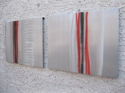 Abstract metal wall art painting sculpture abstract contemporary art Holly Lentz