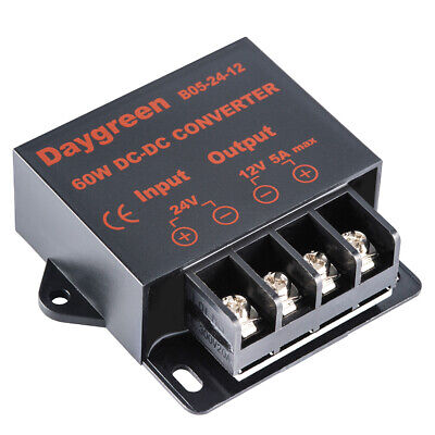 24V to 12V 5A 60W DC DC Converter Regulator Car Step Down Reducer US Ship
