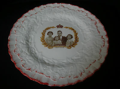 "Superb art-deco plate ""Coronation King George VI & Queen Elizabeth 1937""J.Freyer"