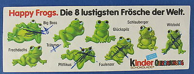 Happy Frogs - original Beipackzettel - Ü-Ei - BPZ