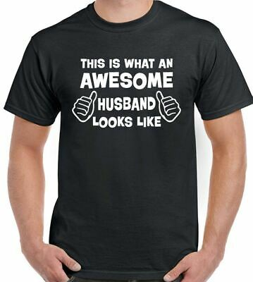 This Is What An Awesome Husband Looks Like - Mens Funny T-Shirt Valentines Day