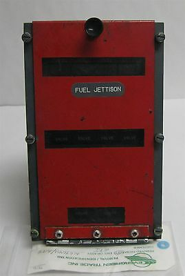 Boeing 747 Aircraft Fuel Jettison Control Panel 65B46125-24