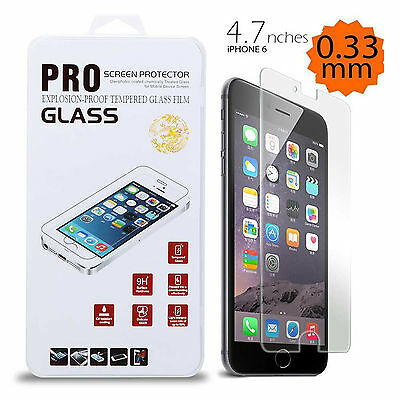 """Tempered Glass Film Screen Protector 4.7"""" For Iphone 6 Apple Hd 0.3Mm Brand New"""