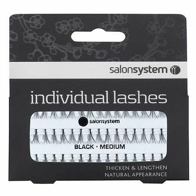 Salon System Individual Flare False Eyelashes Lash Black or Brown - All Sizes