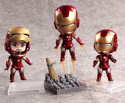 Hot hero cute mini iron man 42 iii tony stark 10cm pvc - Mini iron man ...