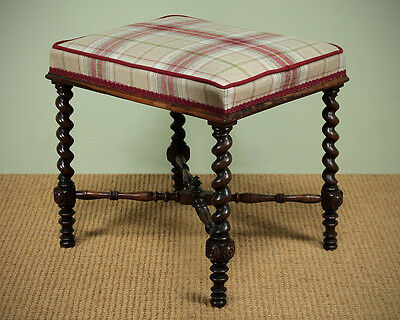 Antique Rosewood Stool c.1880.