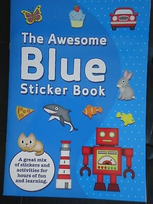 The Awesome Blue Sticker  Book  - Brand New