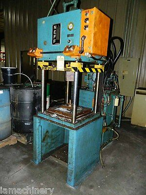 "12 Ton Neff 4 Post Hydraulic Press 26"" x 26""  Pressing Forming Stamping"